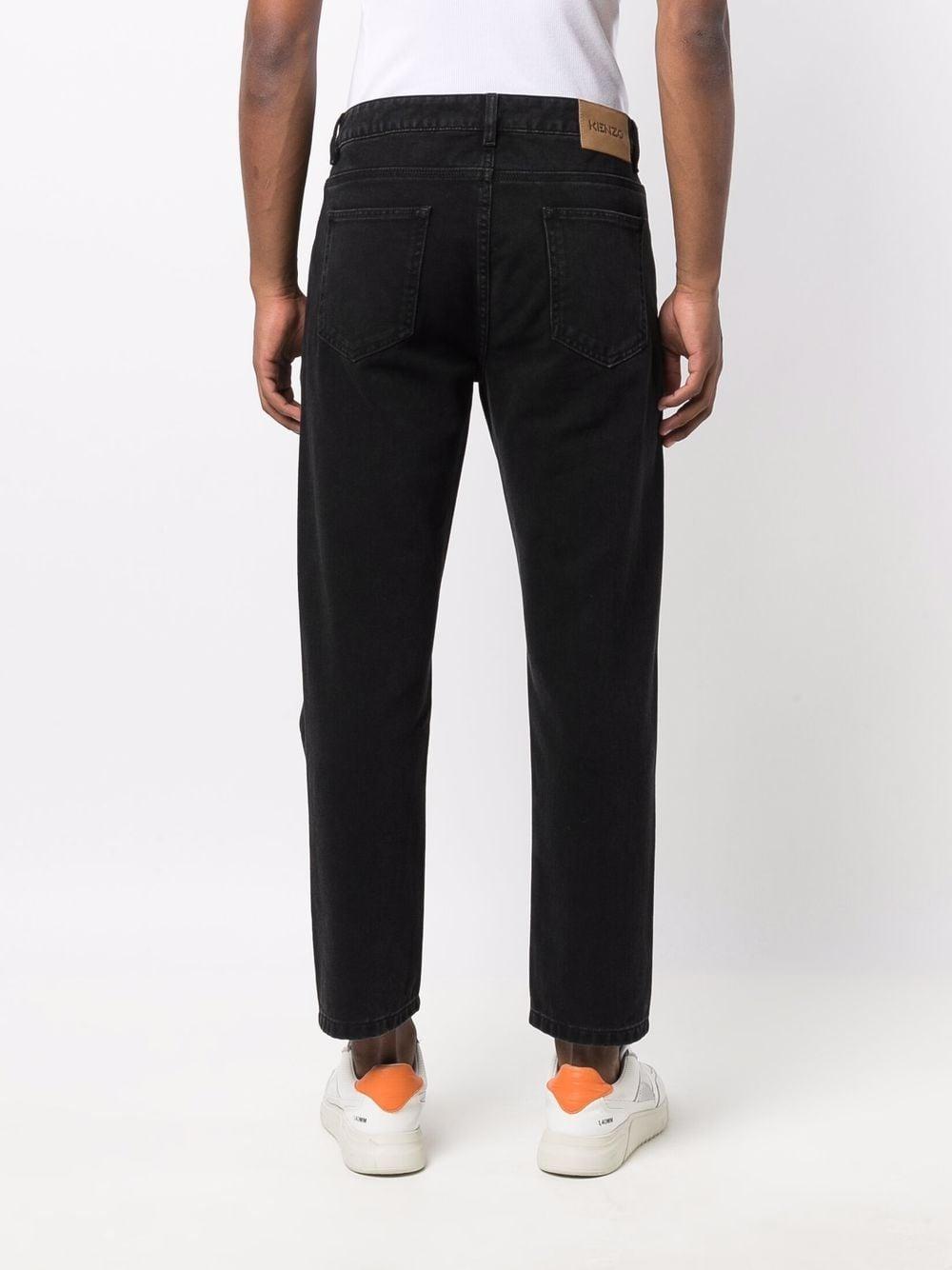 straight jeans man black KENZO   Trousers   FB65DP2002ED99