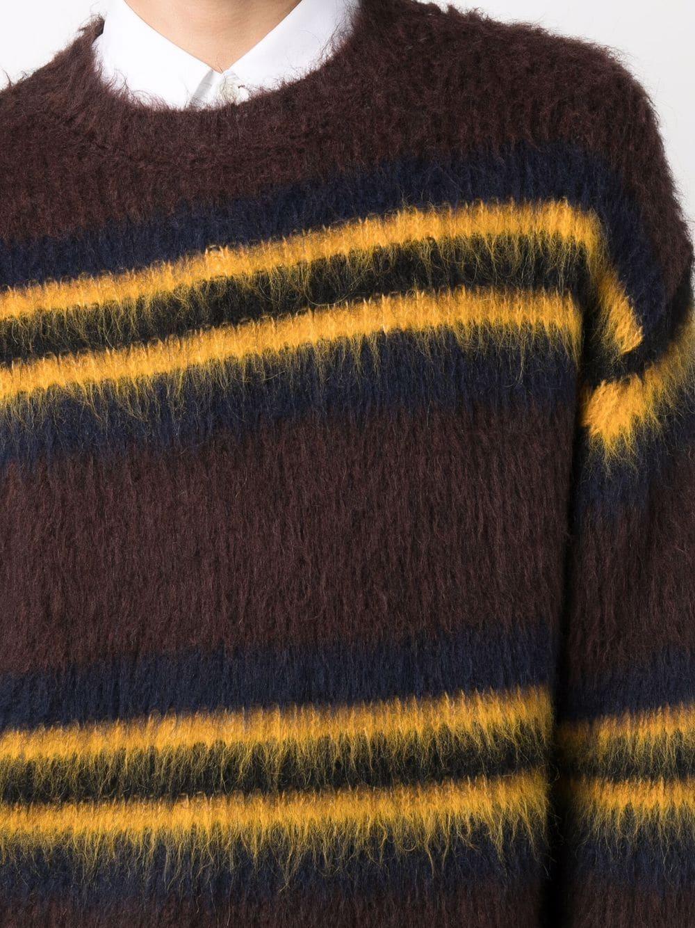 striped sweater man brown KENZO   Sweaters   FB65PU6153CH90B