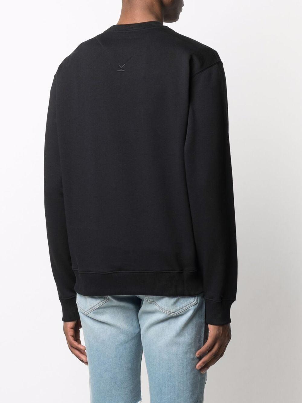 felpa con logo uomo nera in cotone KENZO | Felpe | FB65SW0004ML99