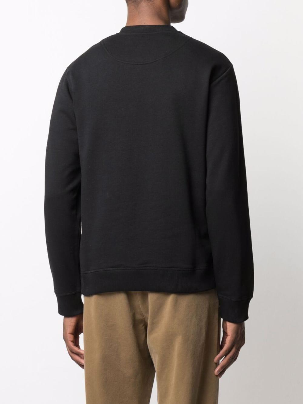 felpa con logo uomo nera in cotone KENZO | Felpe | FB65SW1234XA99