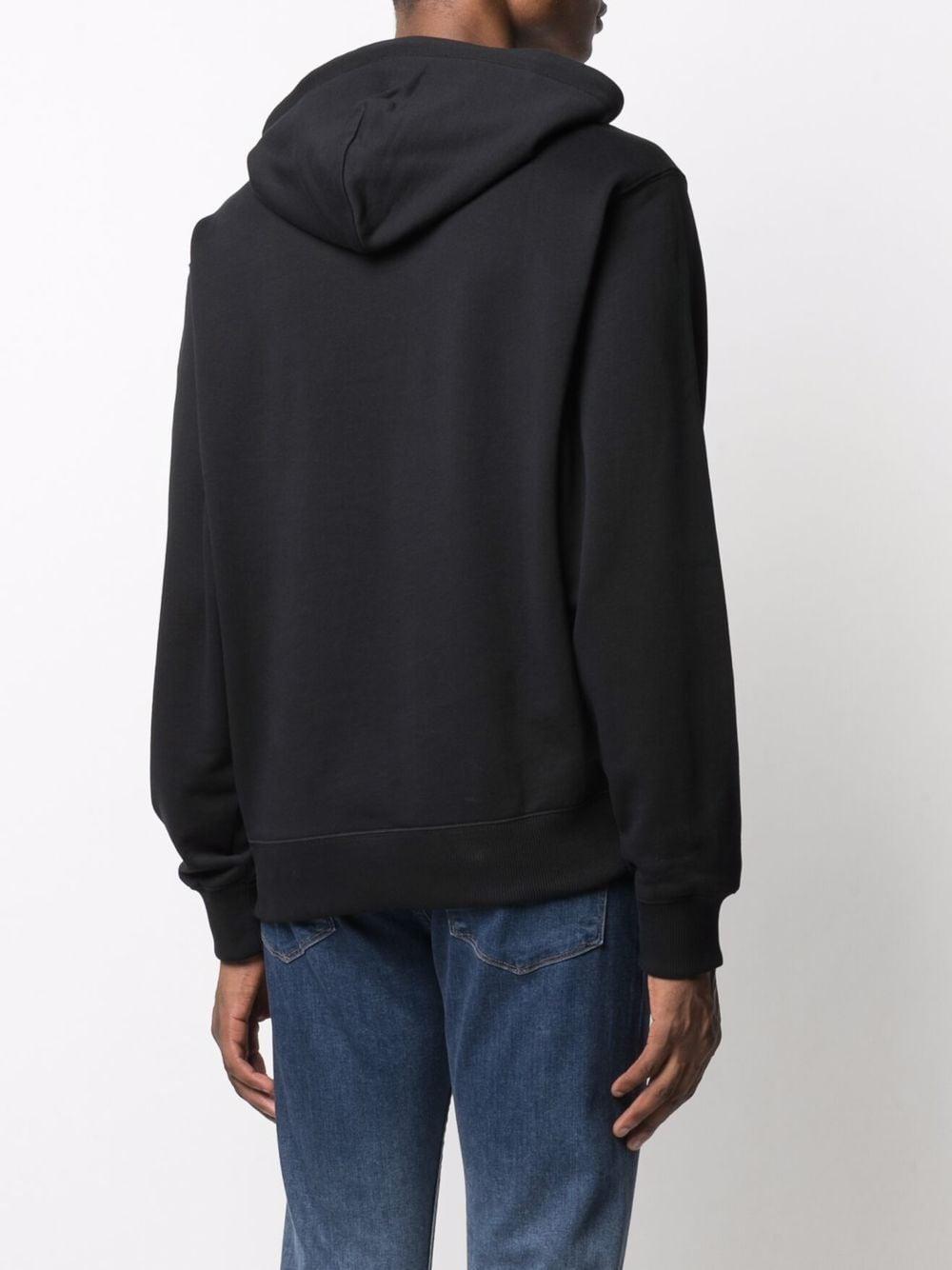Logo Hoodie Black in Cotton Man KENZO | Sweatshirts | FB65SW3004ML99