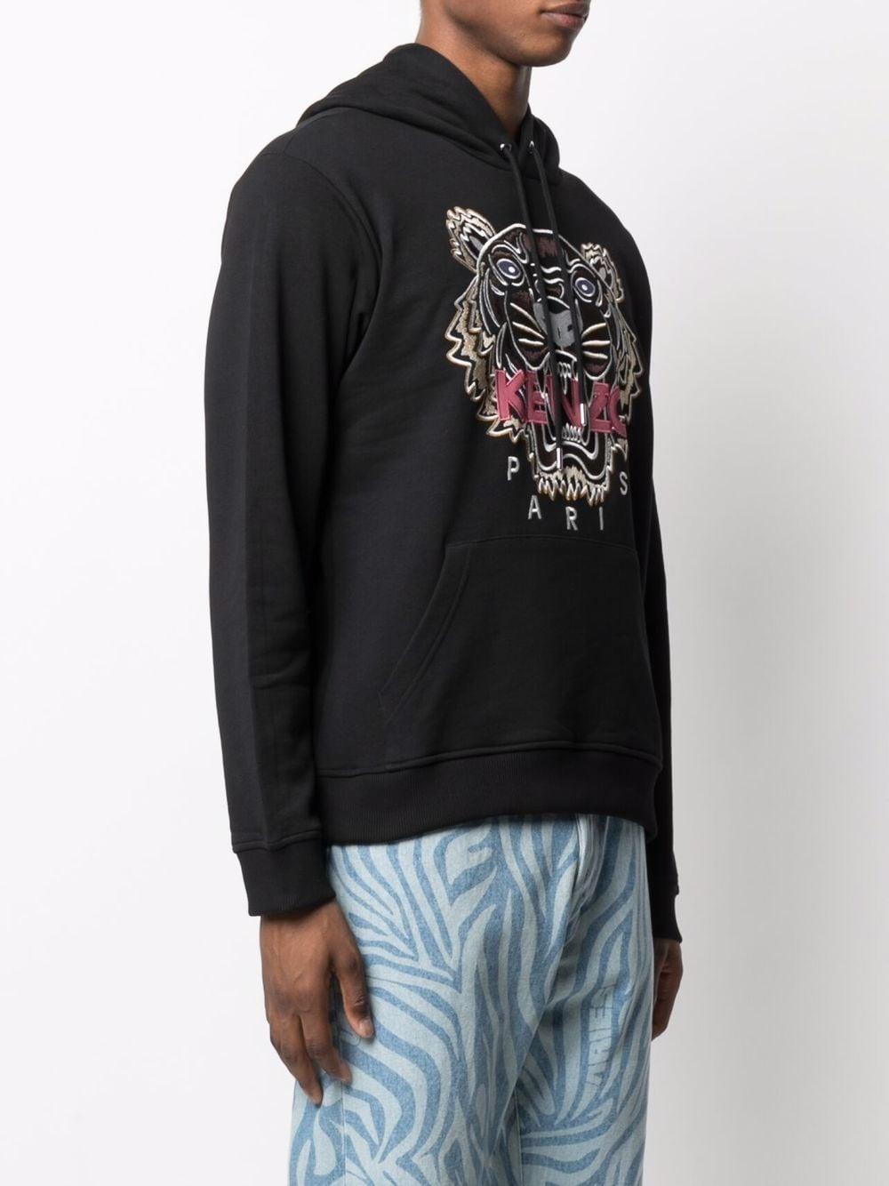 felpa tiger uomo nera in cotone KENZO | Felpe | FB65SW3334XA99
