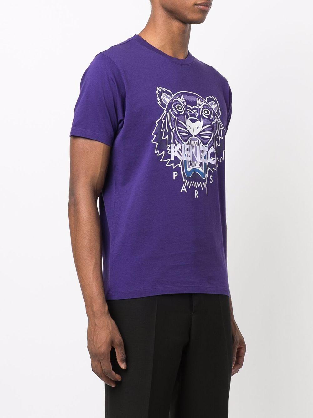 t-shirt con logo uomo viola in cotone KENZO | T-shirt | FB65TS0204YA80