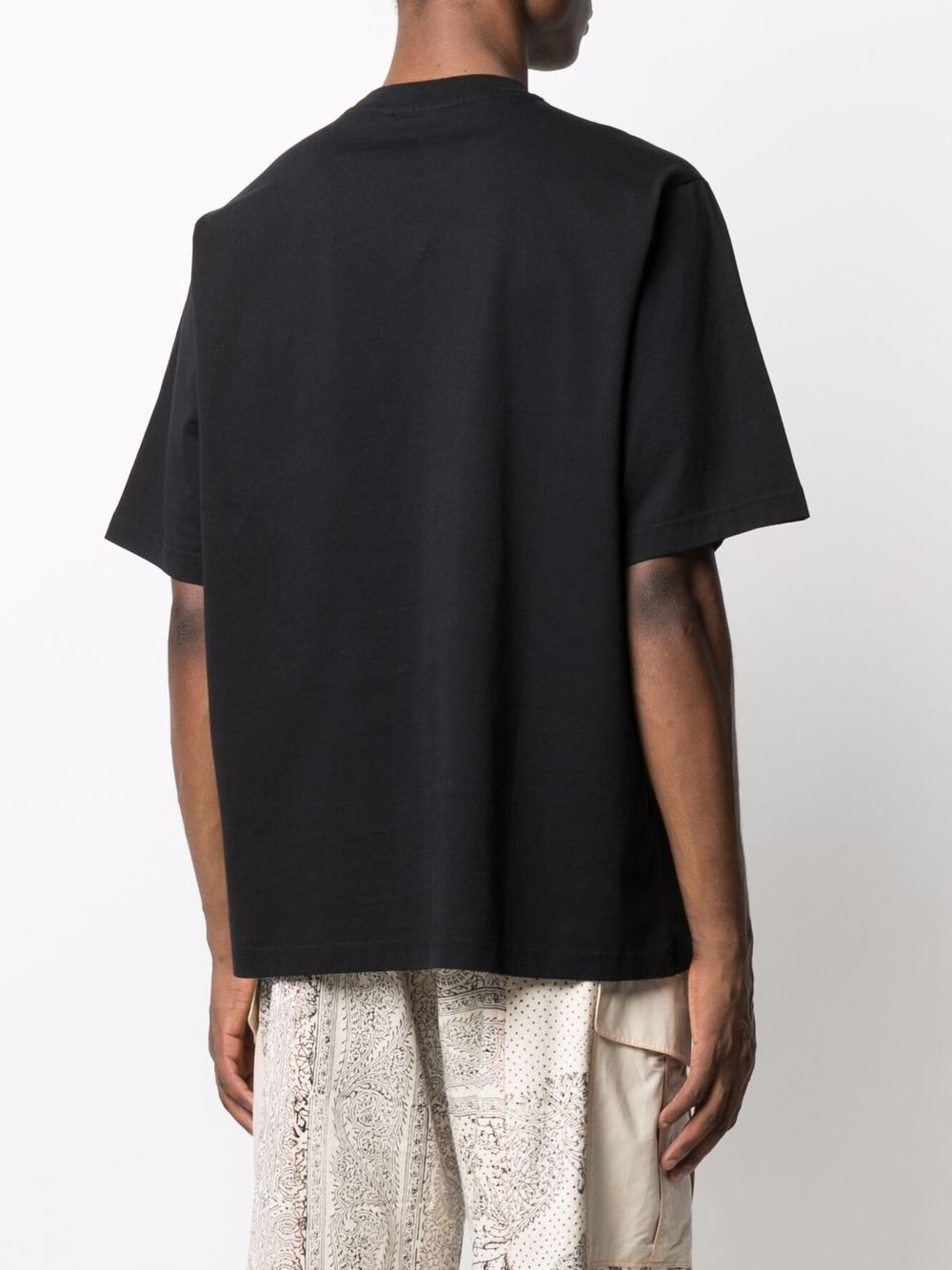 t-shirt with print man black in organic cotton KENZO | T-shirts | FB65TS5224SA99