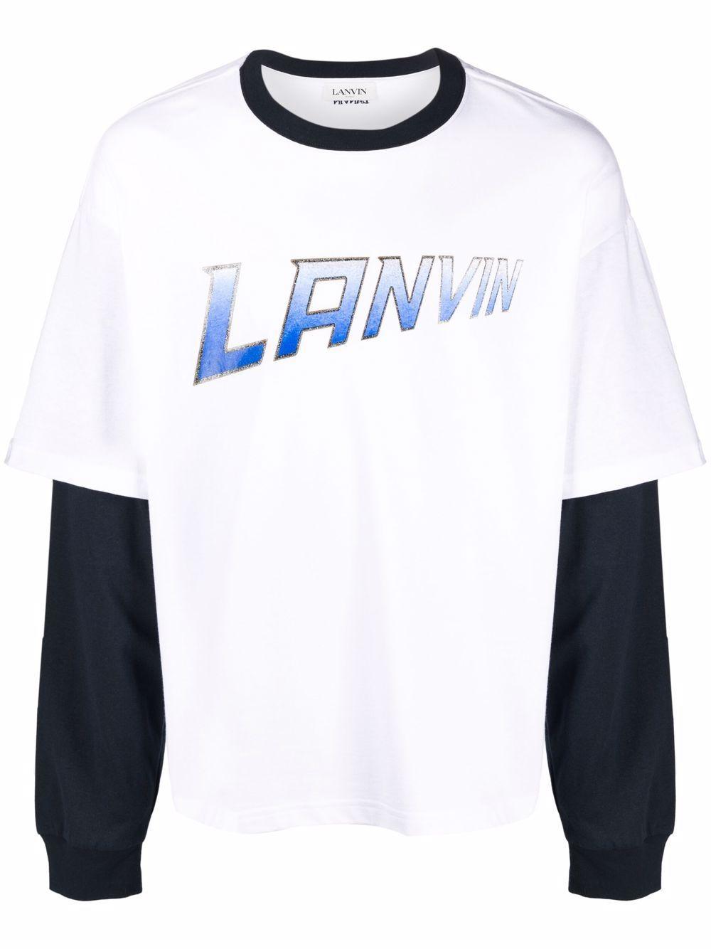 long sleeves t-shirt man white in cotton LANVIN   T-shirts   RM-TS0020-J054-A2101