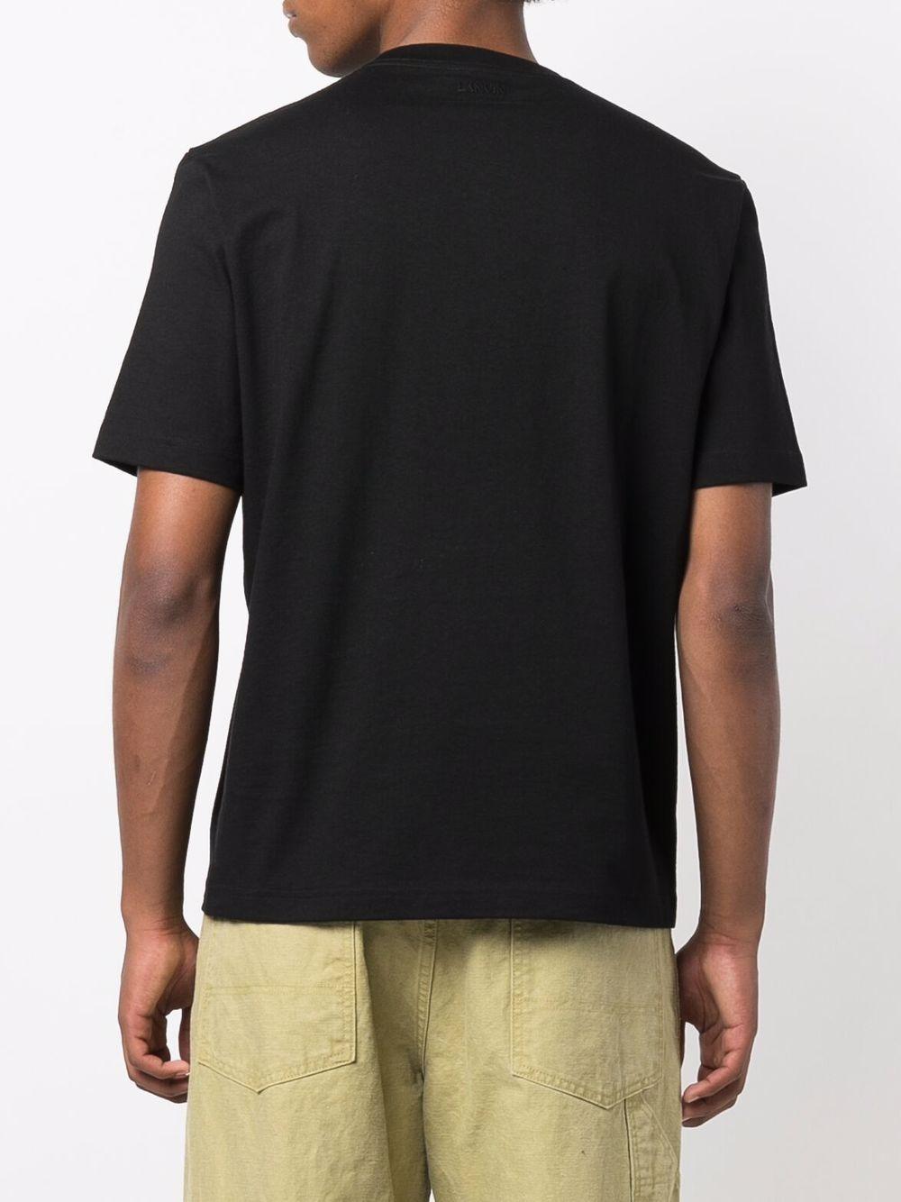 pocket t-shirt man black in cotton LANVIN | T-shirts | RM-TS0021-J028-A2110