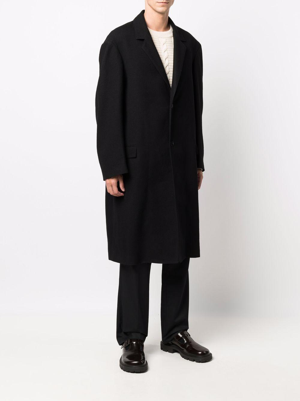 cappotto monoepetto uomo nero in lana LEMAIRE | Cappotti | M 213 CO167 LF608999
