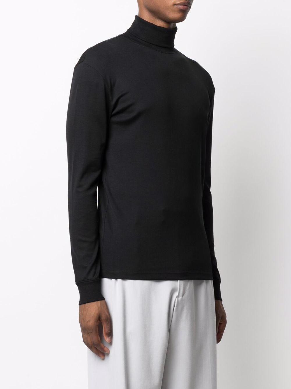 turtelneck t-shirt man black in cotton LEMAIRE | T-shirts | M 213 JE300 LJ060999