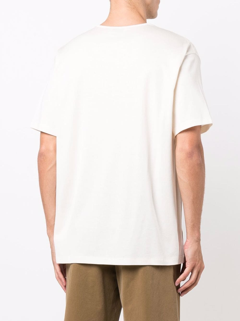 t-shirt in cotone uomo bianca LEMAIRE | T-shirt | M 213 JE305 LJ060000