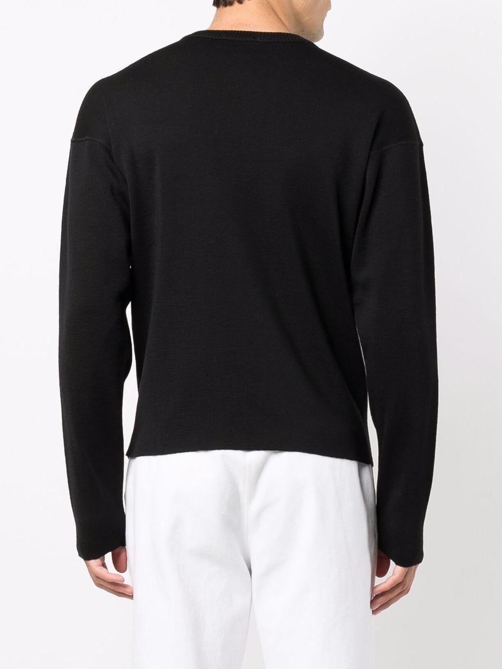wool blend seeatshirt man black LEMAIRE | Sweatshirts | M 213 KN320 LK087999