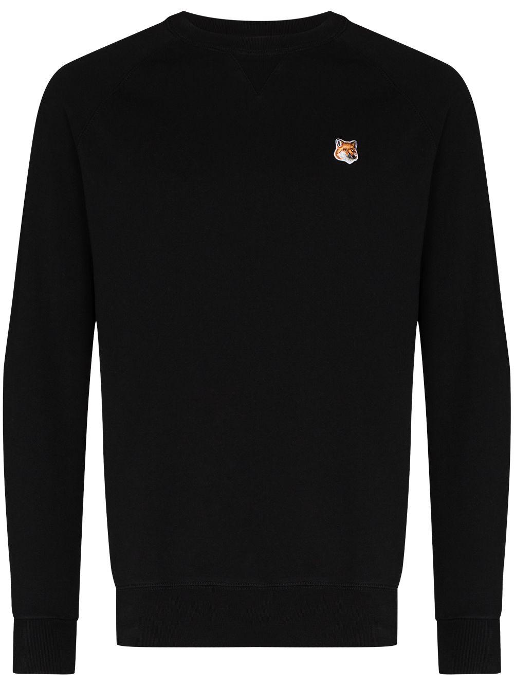 logo sweatshirt man black in cotton MAISON KITSUNÉ   Sweatshirts   AM00303KM0001P199