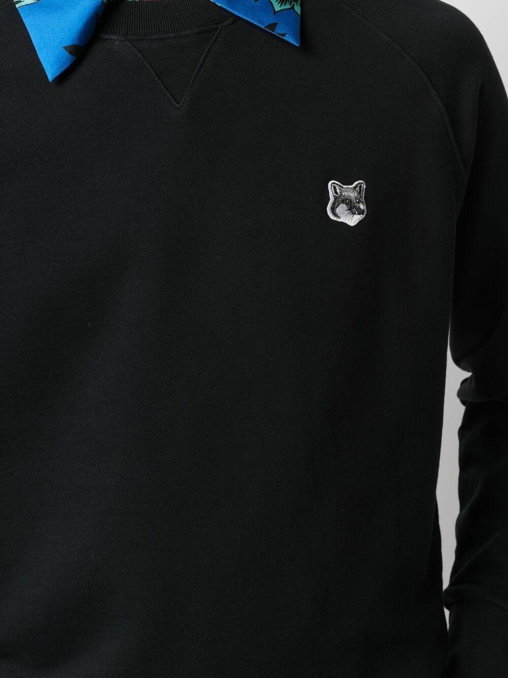 felpa con logo uomo nera in cotone MAISON KITSUNÉ   Felpe   GM00333KM0002P199