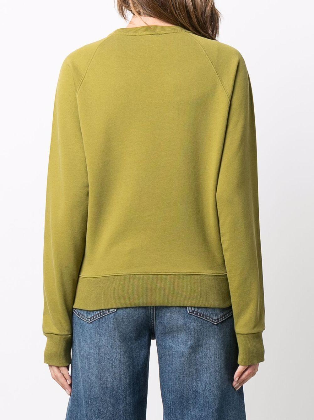logo sweatshirt unisex avocado in cotton MAISON KITSUNÉ | Sweatshirts | HW00315KM0001P356