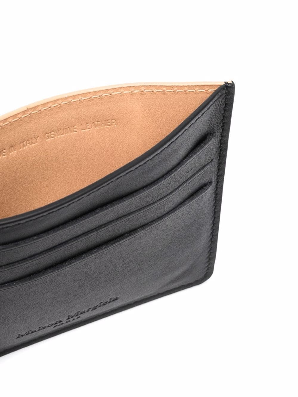 two tone card holder man in leather MAISON MARGIELA | Wallets | S35UI0432 P4303T8013