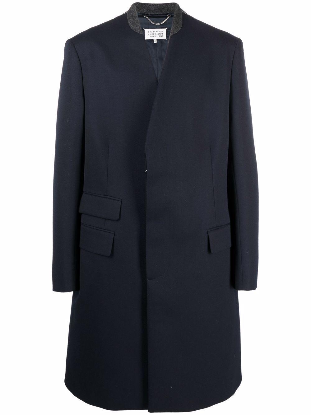 cappotto in lana uomo blu MAISON MARGIELA | Giacche | S50AA0103 S48109524