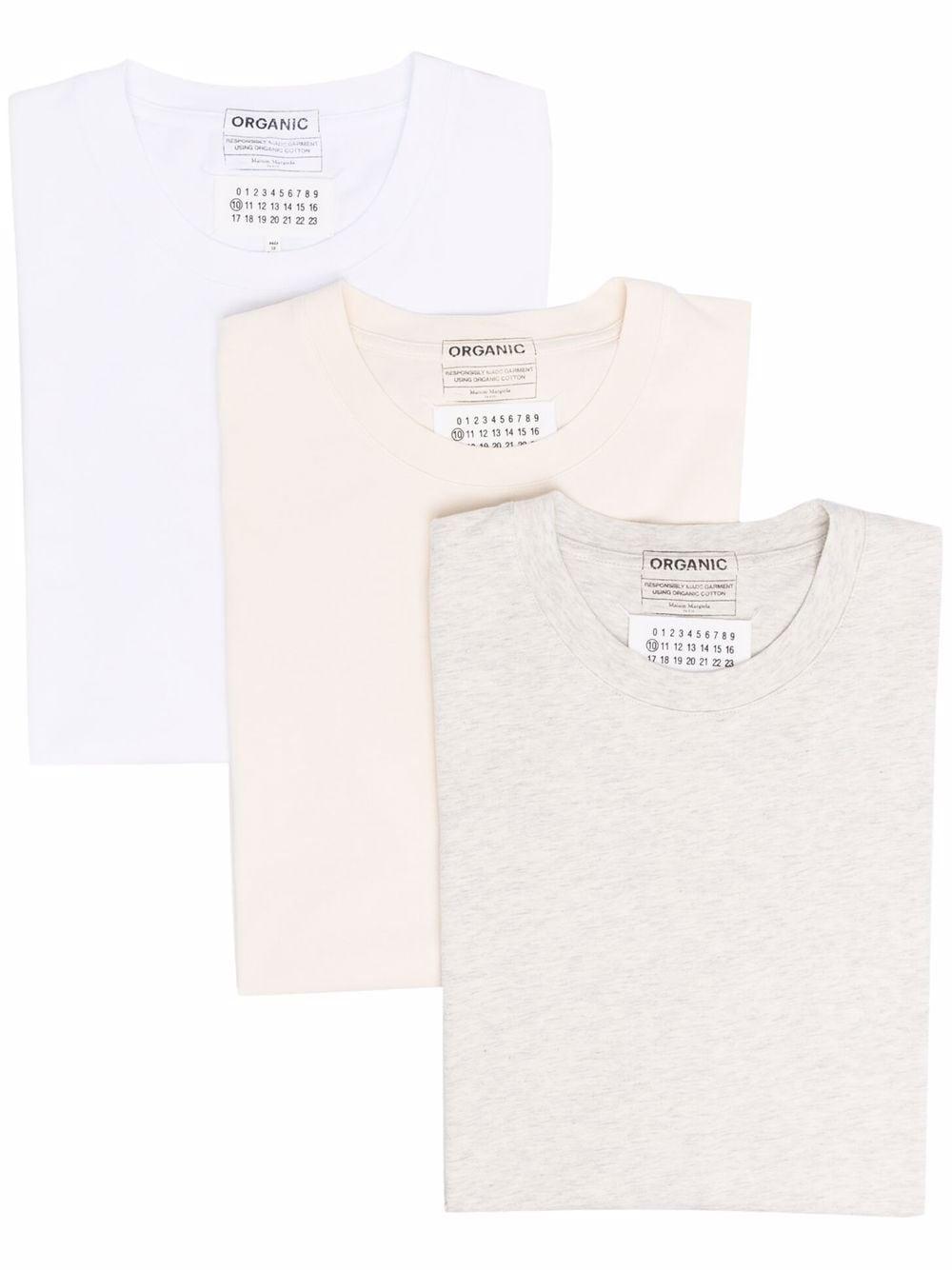 tripack t-shirt uomo in cotone MAISON MARGIELA | T-shirt | S50GC0652 S23973961