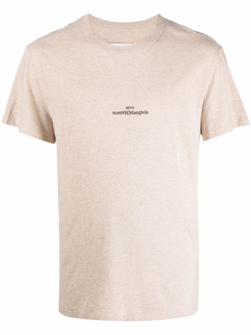 logo t-shirt man beige in cotton MAISON MARGIELA | T-shirts | S50GC0659 S23984114M