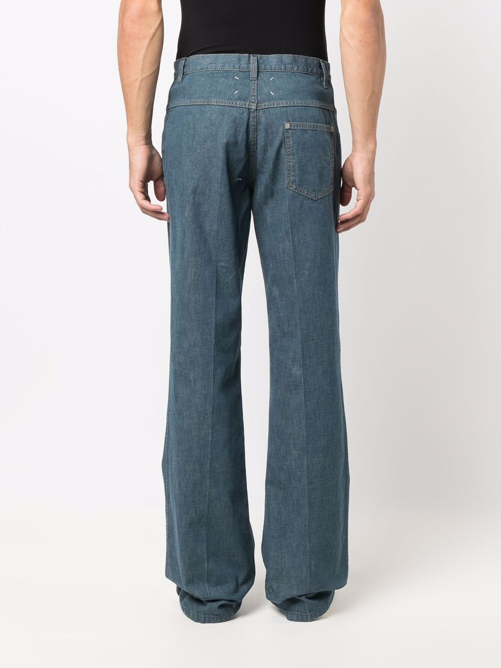 jeans dritti uomo denim MAISON MARGIELA | Pantaloni | S50LA0186 S30774541