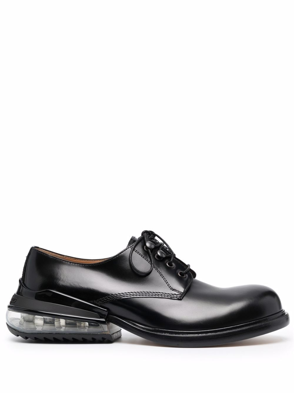lace up with airbag heel man black in leather MAISON MARGIELA | Laced Shoes | S57WQ0157 P3827H8396