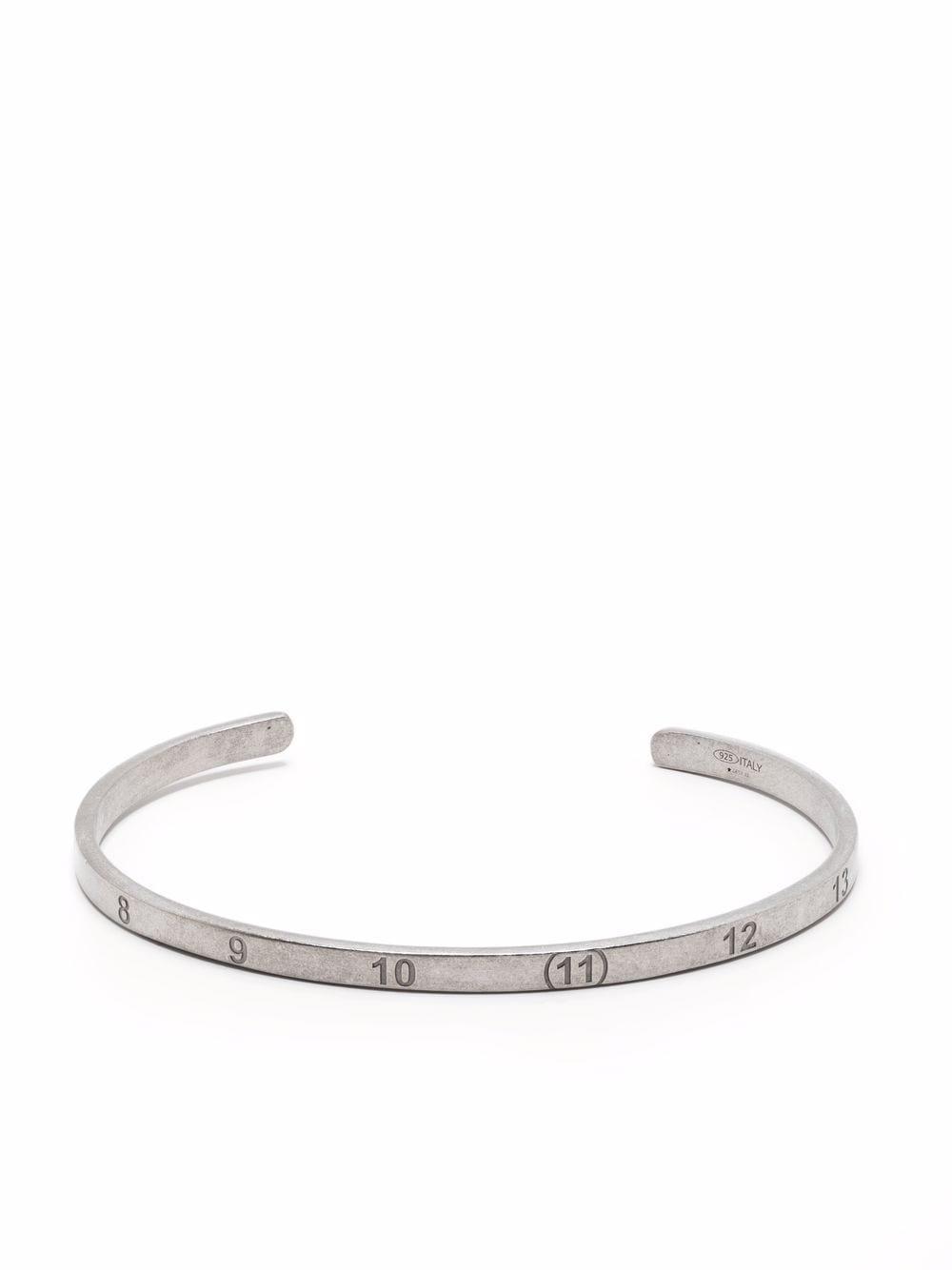 bracciale rigido unisex argento MAISON MARGIELA | Gioielli | SM1UY0037 S12967951
