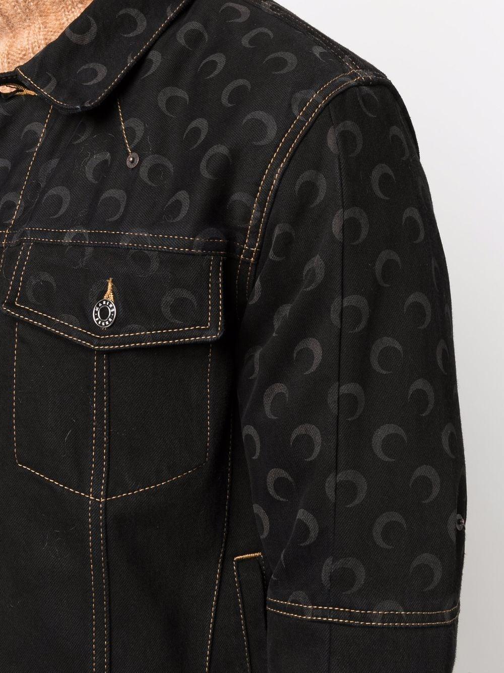 giacca moon denim uomo nera in cotone MARINE SERRE | Giacche | J037FW21MU00