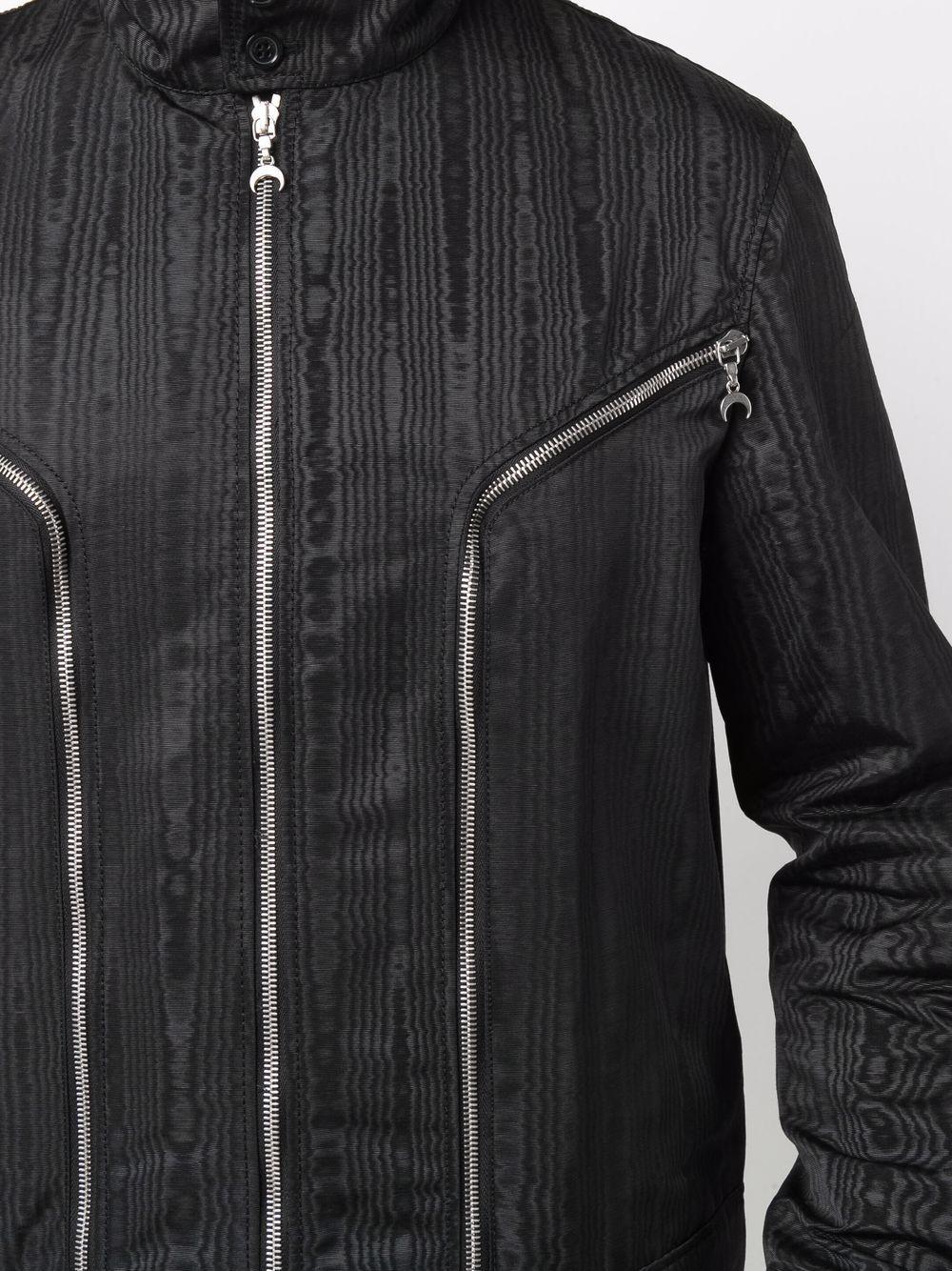 moire effect jacket man black MARINE SERRE | Jackets | J050FW21M00