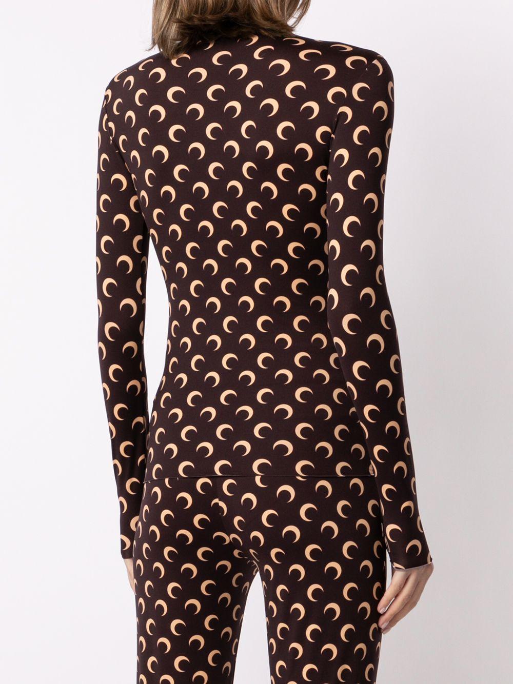 long sleeves t-shirt woman brown MARINE SERRE | T-shirts | T068ICONW08