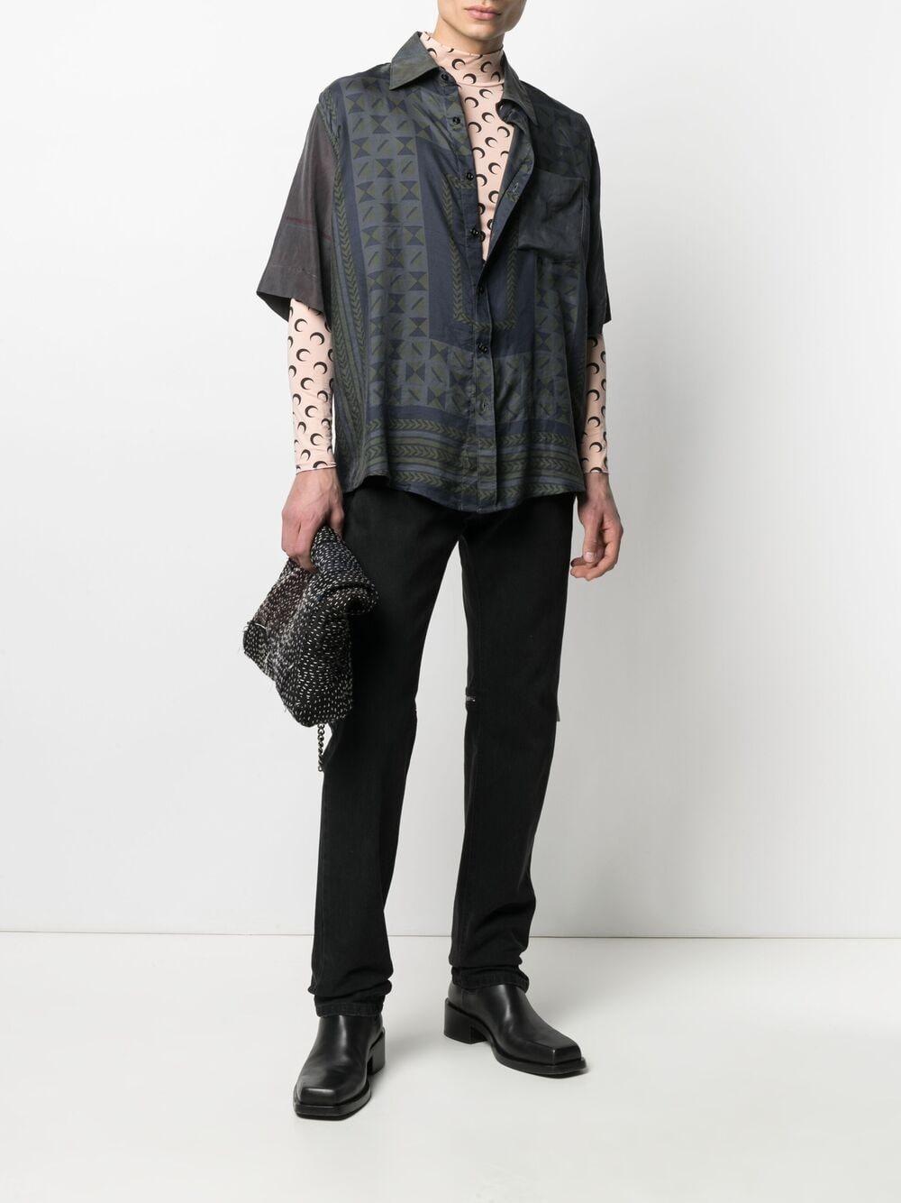 second skin moon top uomo rosa MARINE SERRE | T-shirt | T088ICON09