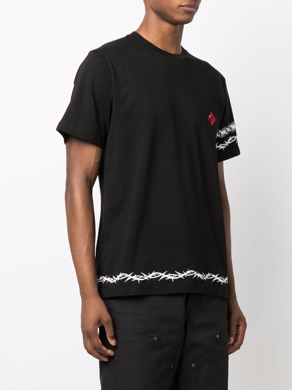t-shirt con logo uomo nera in cotone MARINE SERRE   T-shirt   T129FW21M00