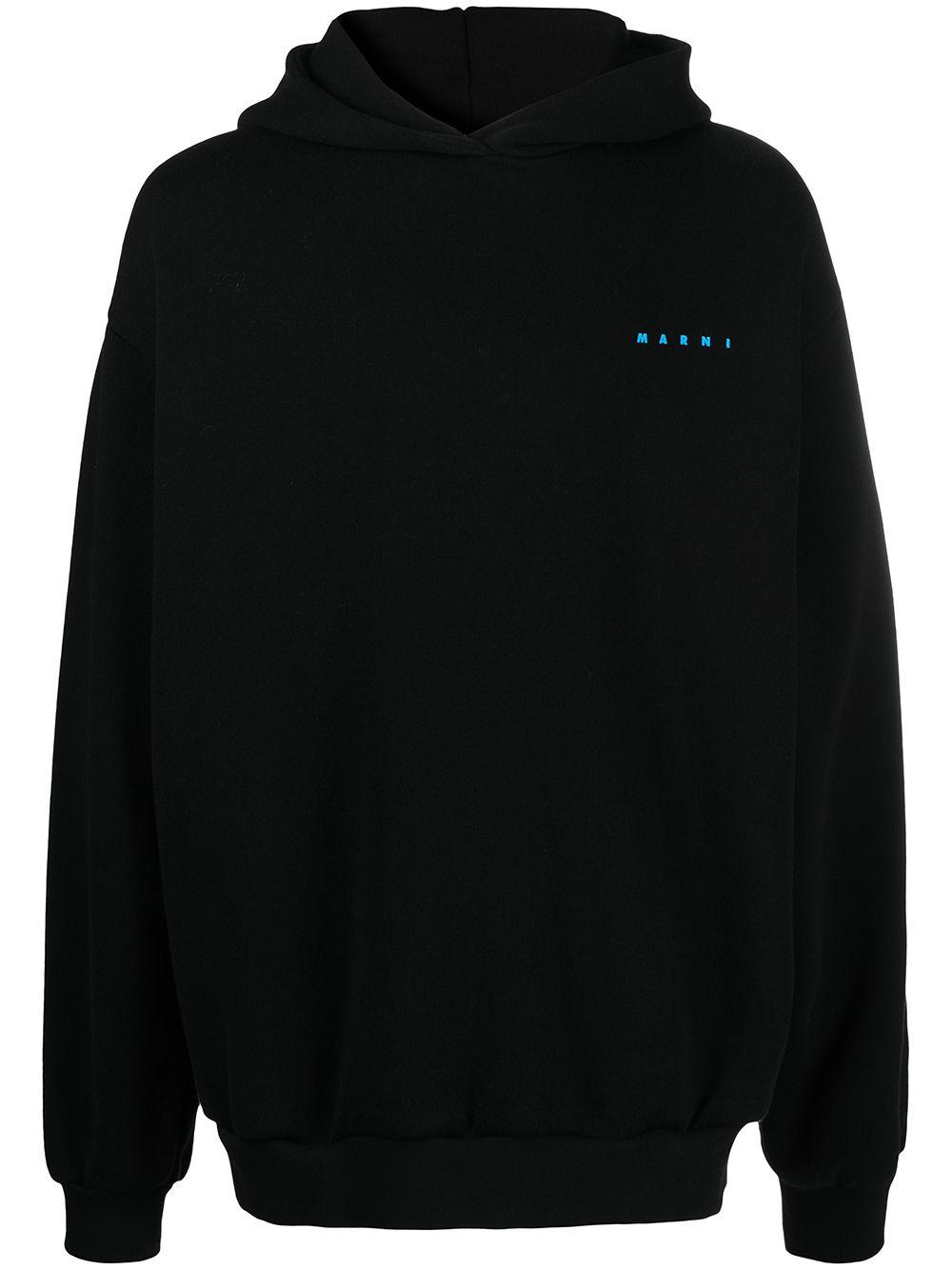 felpa con logo uomo nera in cotone MARNI   Felpe   FUMU0067P0 UTC02200N99