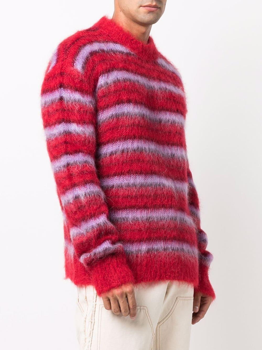 maglione a righe uomo multicolore MARNI | Maglieria | GCMG0161Q0 UFU116RGR66