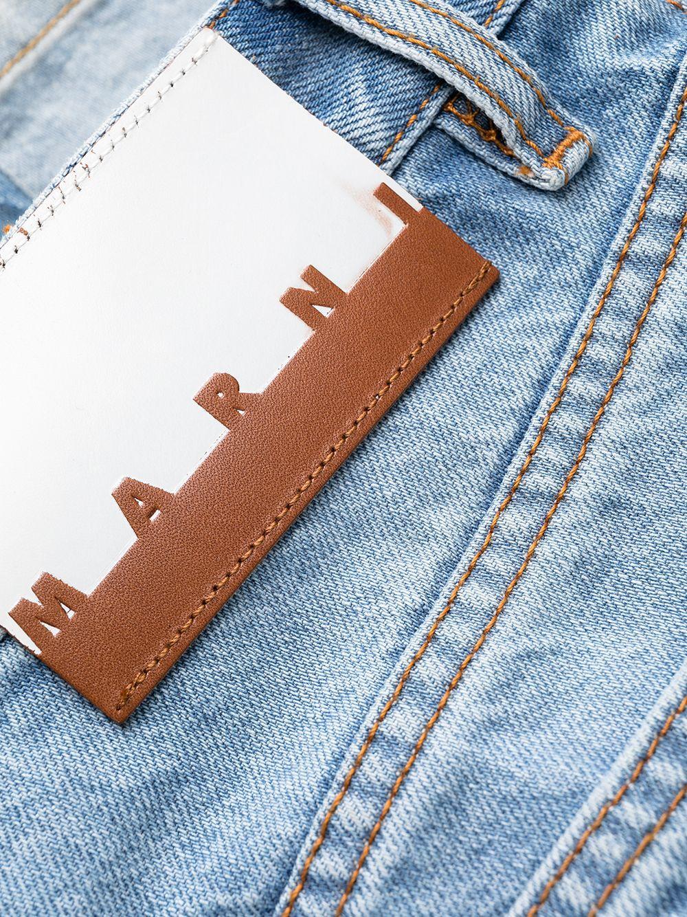jeans dritti uomo denim in cotone MARNI | Pantaloni | PUJU0046A5 UTC04700B50