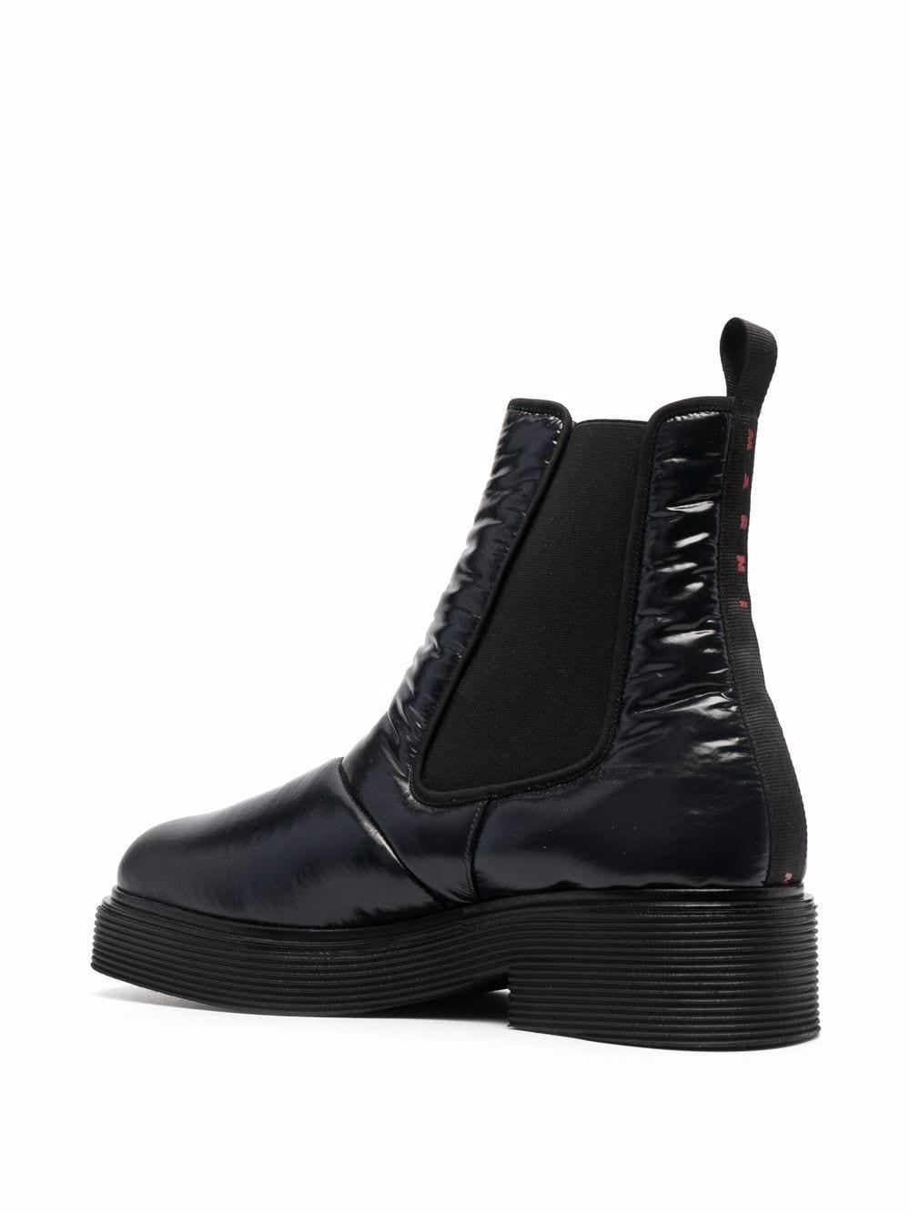 leather booties man black MARNI   Boots   TCMR004403 P434500N99