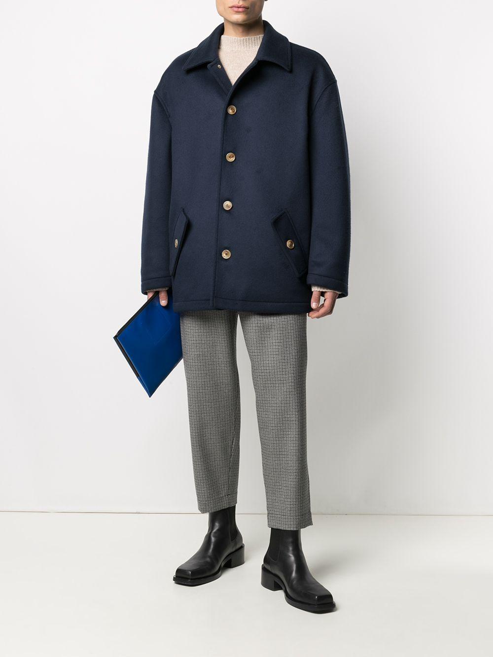 cappotto in lana uomo blu MARNI | Cappotti | TUMU0090U0 UTW91300B99