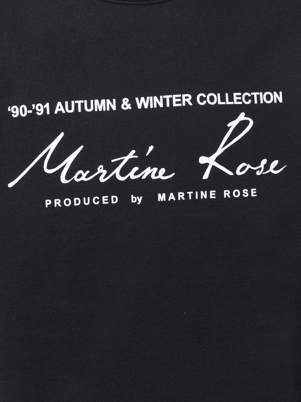 logo sweatshirt man black in cotton MARTINE ROSE | Sweatshirts | M601FEMR009