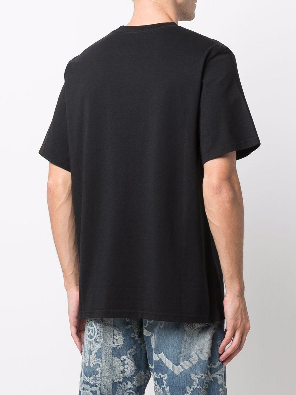 logo t-shirt man black in cotton MARTINE ROSE   T-shirts   M603JCMR009