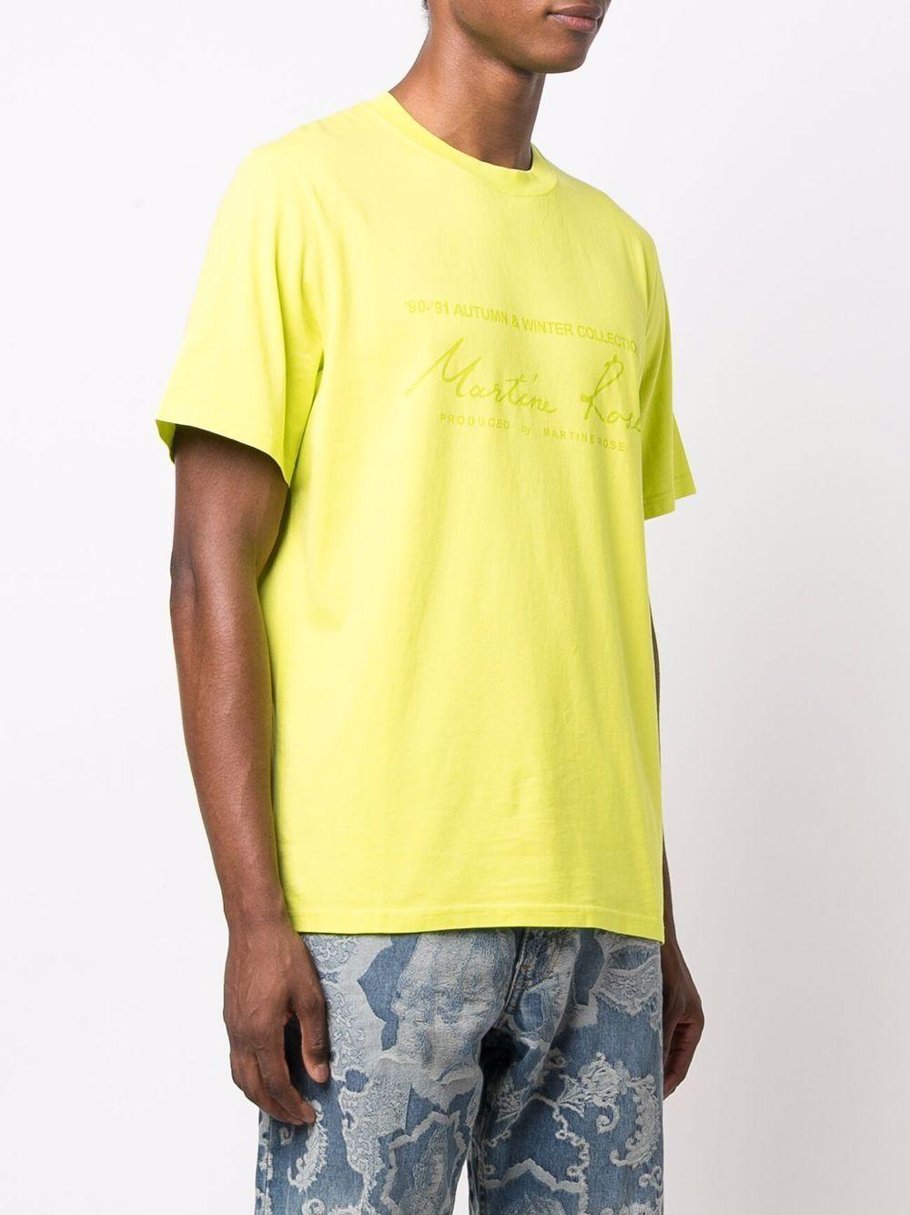 t-shirt con logo uomo gialla in cotone MARTINE ROSE | T-shirt | M603JCMR055