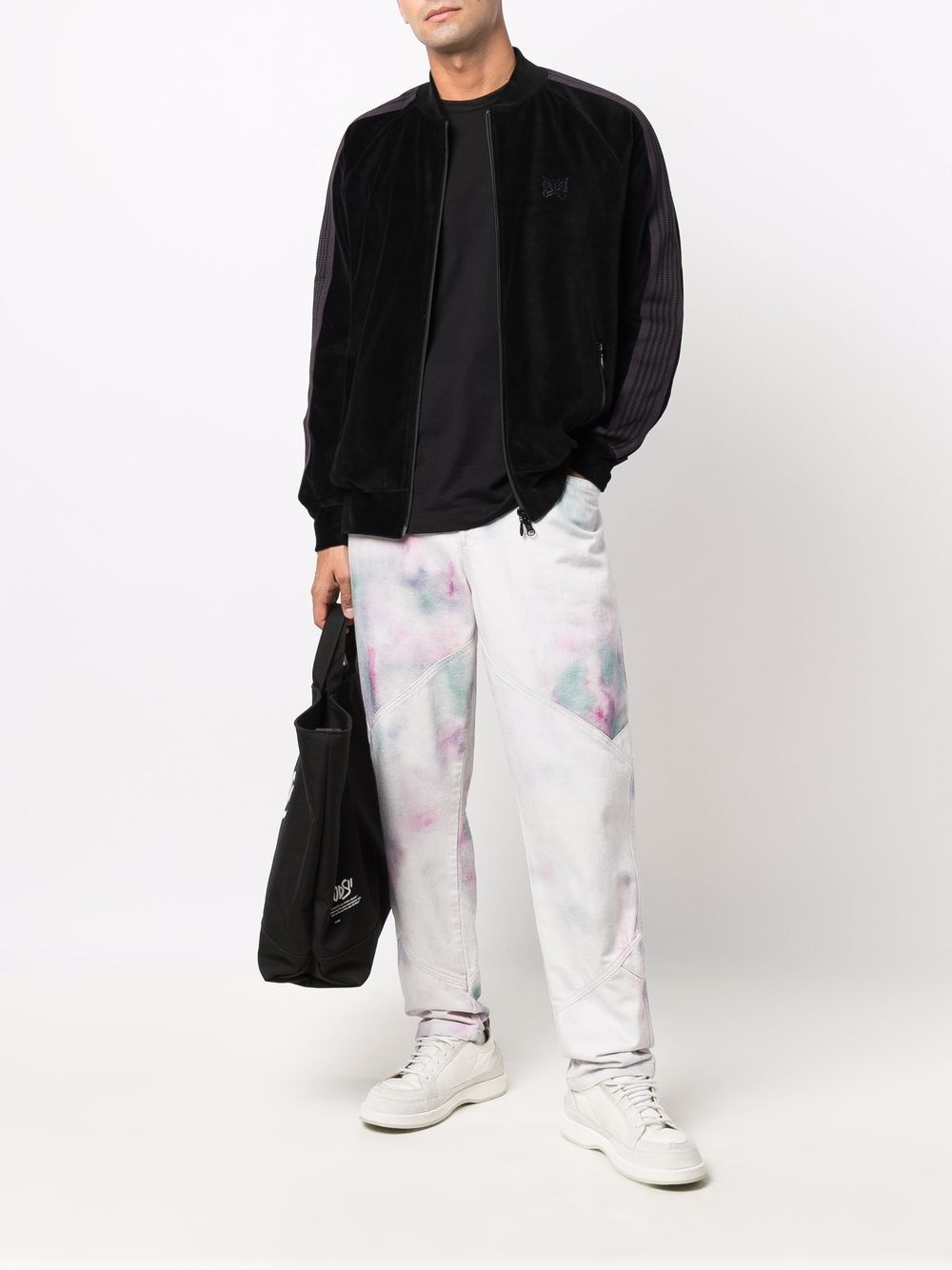 giacca leggera uomo nera in rayon NEEDLES | Giacche | JO227BLACK C