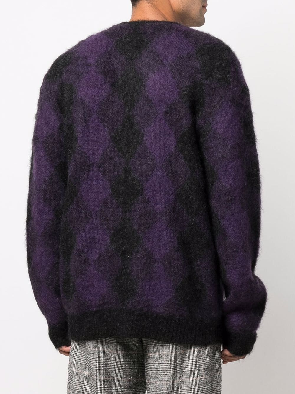 cardigan mohair man purple and black NEEDLES   Sweaters   JO257CHARCOAL