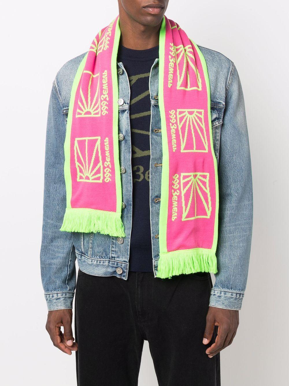 logo scarf unisex pink RASSVET |  | PACC9K0143