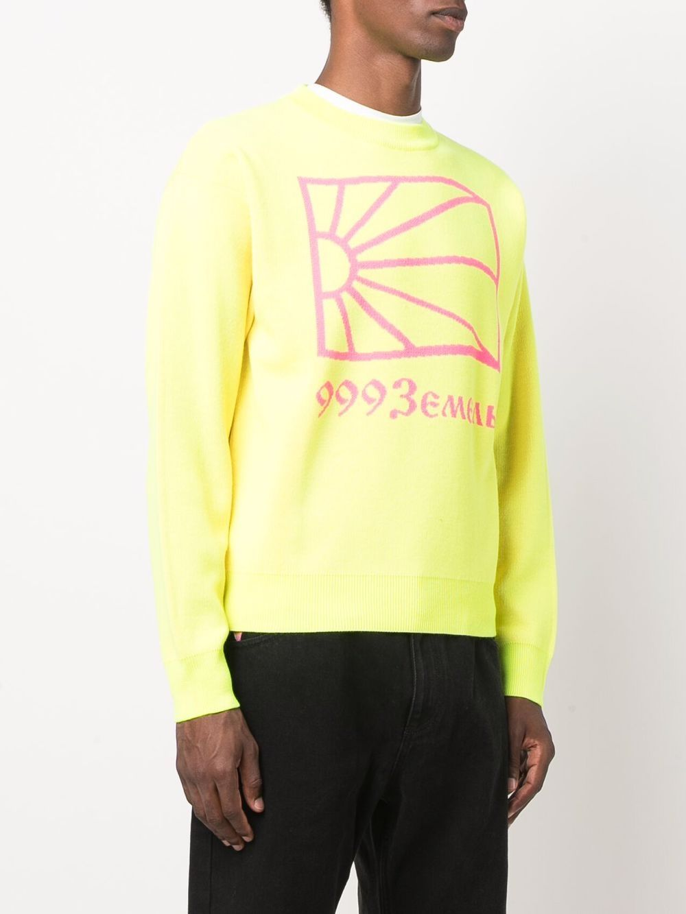 crewneck sweater man yellow RASSVET | Sweaters | PACC9N0023