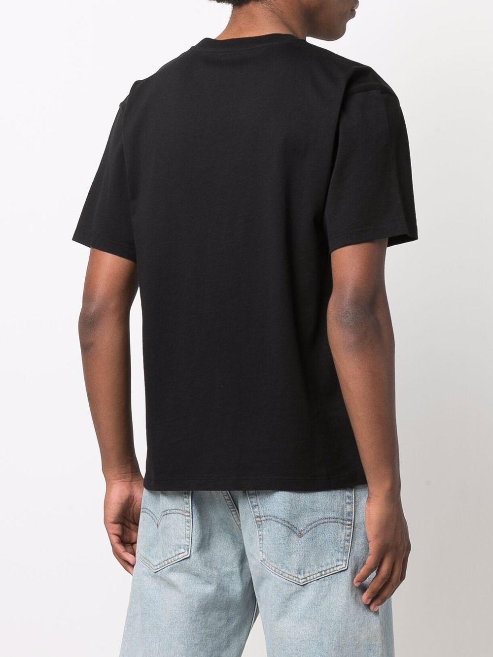 logo t-shirt man black in cotton RASSVET | T-shirts | PACC9T0051