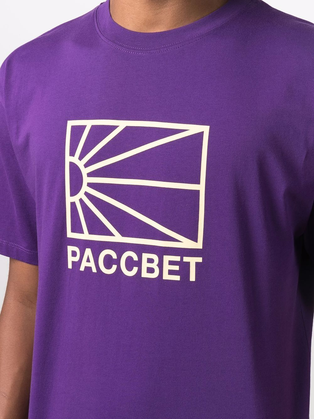 logo t-shirt man purple in cotton RASSVET | T-shirts | PACC9T0052