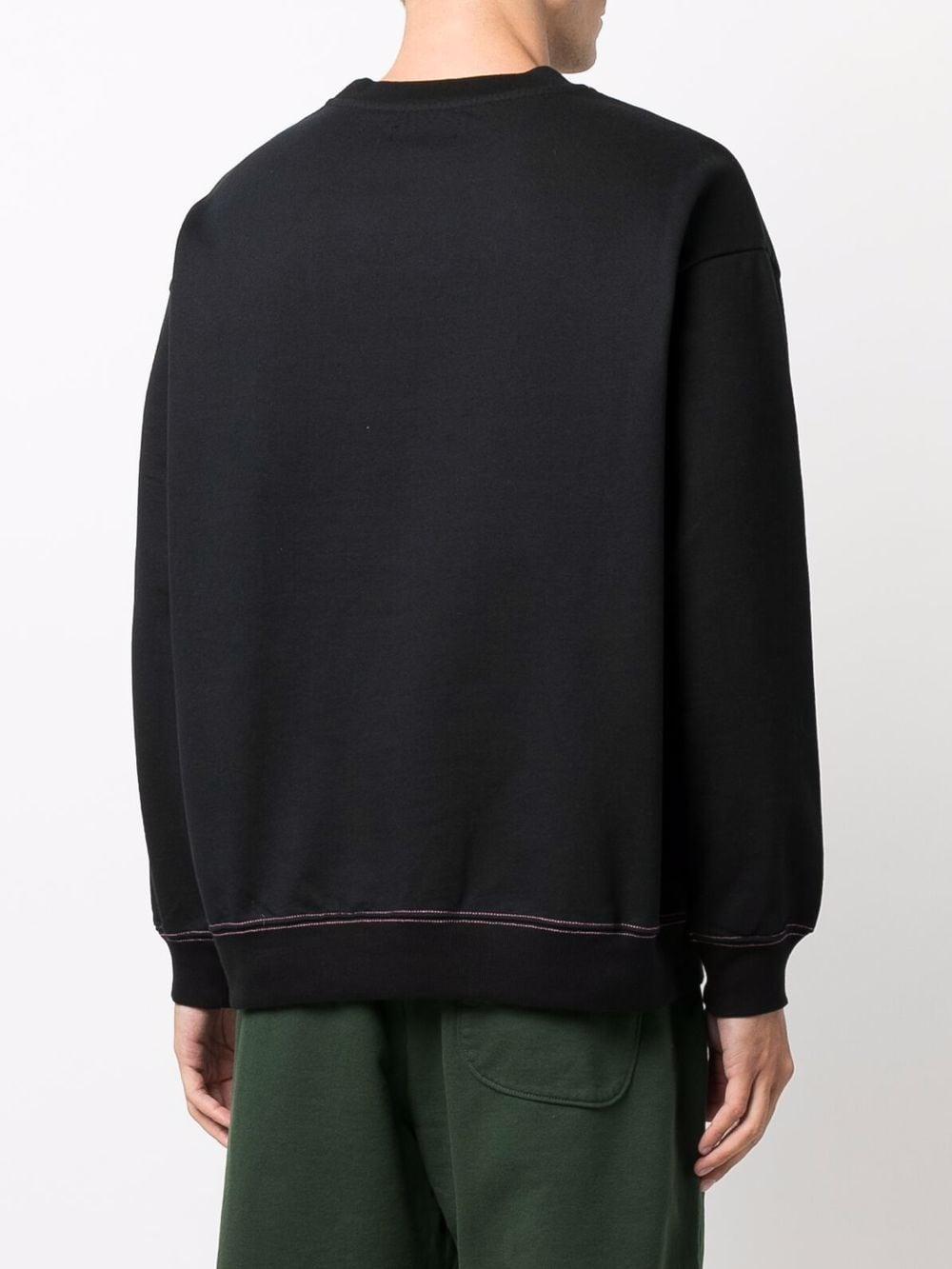 felpa con logo uomo nera in cotone RASSVET   Felpe   PACC9T0211