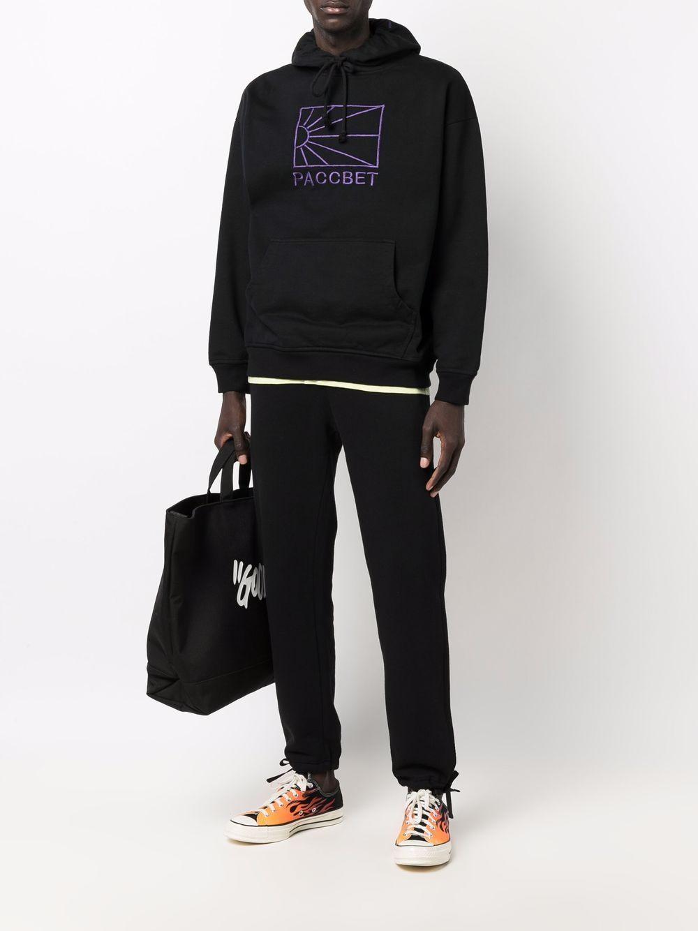 logo hoodie man black in cotton RASSVET | Sweatshirts | PACC9T0251