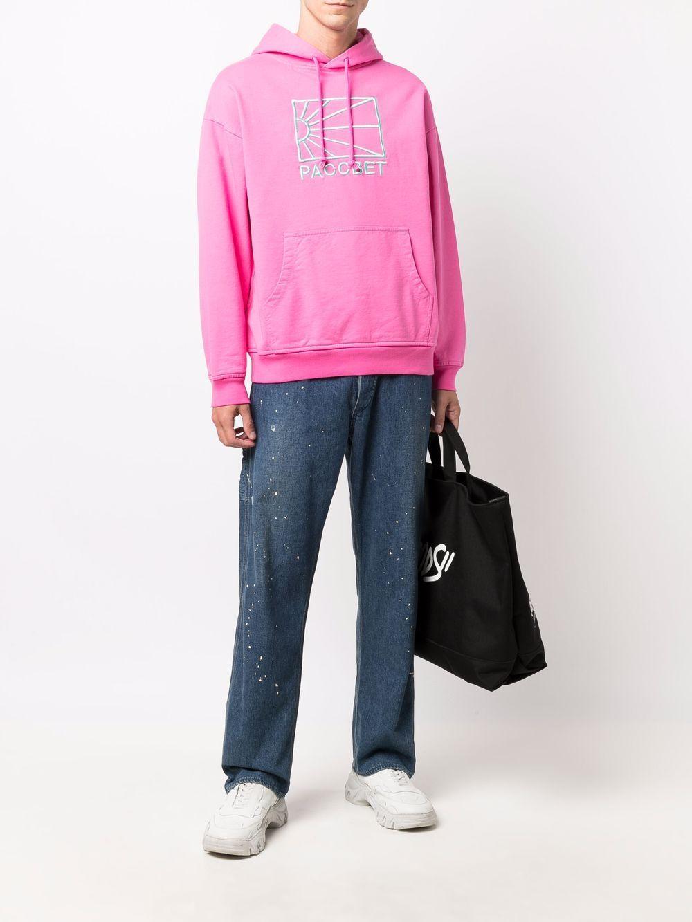 felpa con logo uomo rosa in cotone RASSVET   Felpe   PACC9T0253