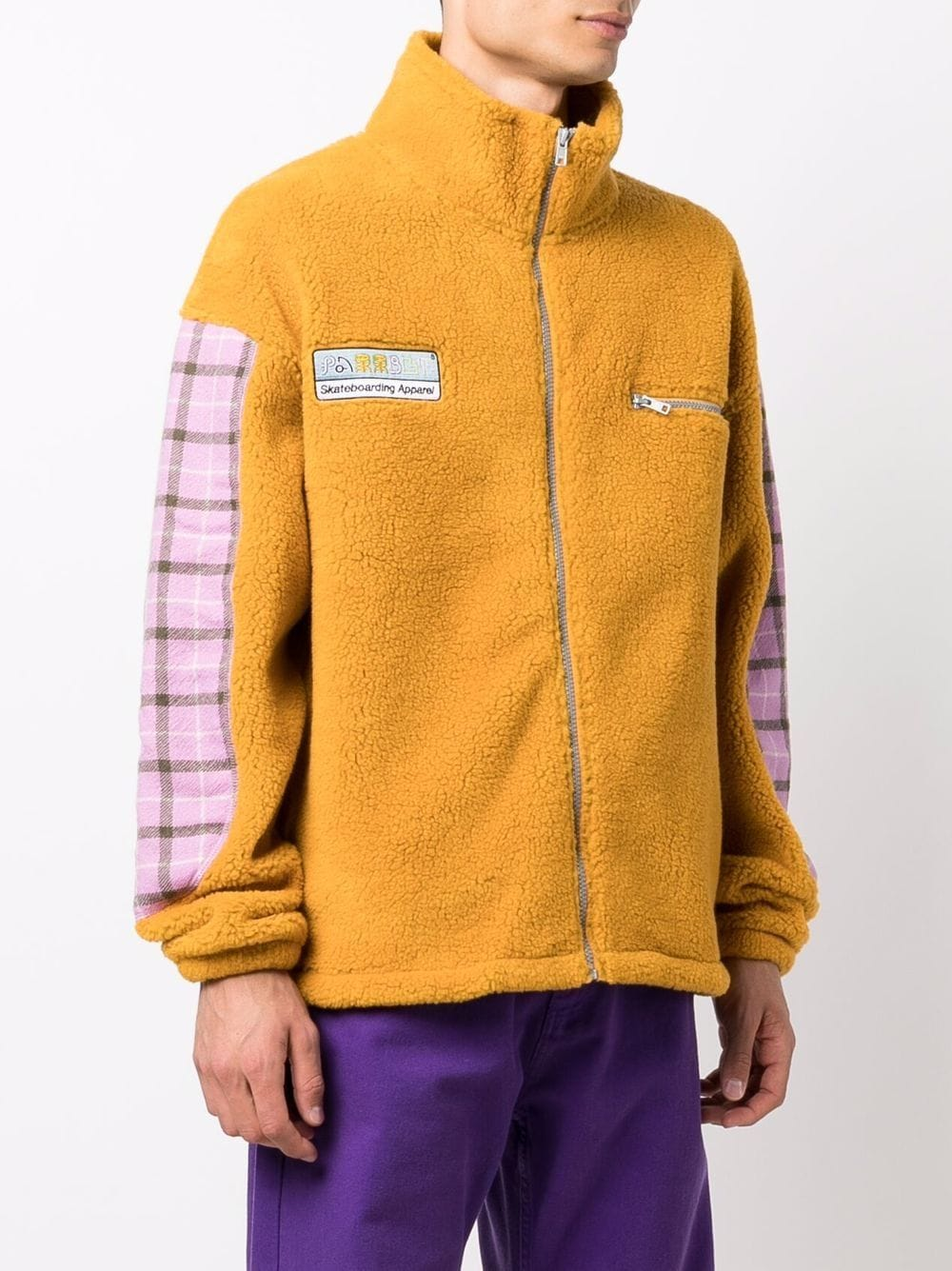 giacca in pile uomo gialla RASSVET   Giacche   PACC9T0272