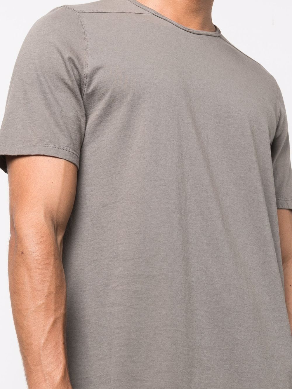 t-shirt level t uomo grigia in cotone bio RICK OWENS DRKSHDW   T-shirt   DU02A3250 RN34