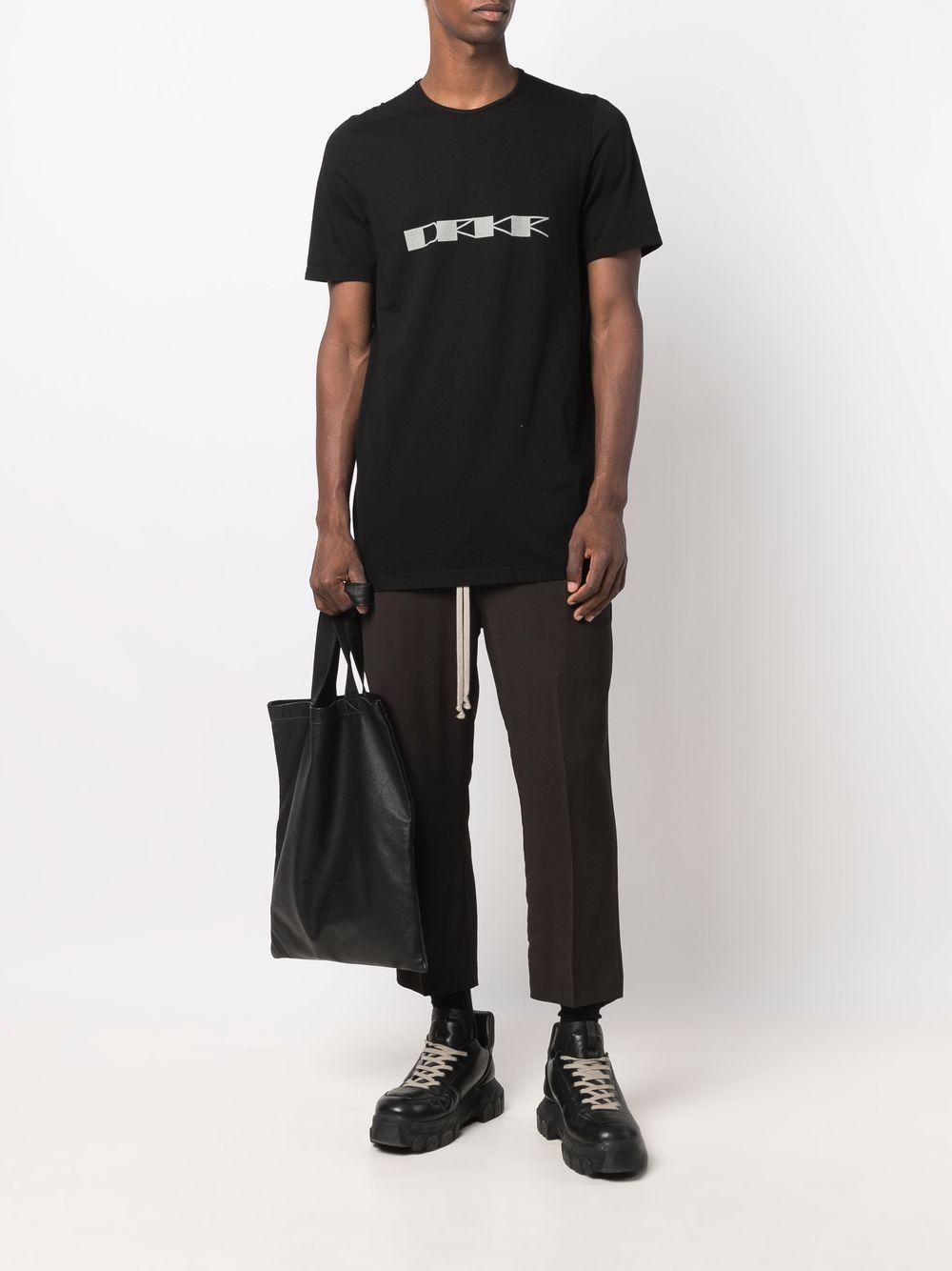 t-shirt level uomo nera in cotone RICK OWENS DRKSHDW | T-shirt | DU02A3250 RNEP60961