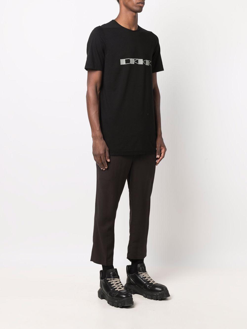 level t-shirt man black in cotton RICK OWENS DRKSHDW   T-shirts   DU02A3250 RNEP60961
